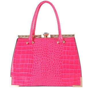 Diophy Animal-print Kiss-lock Tote Handbag