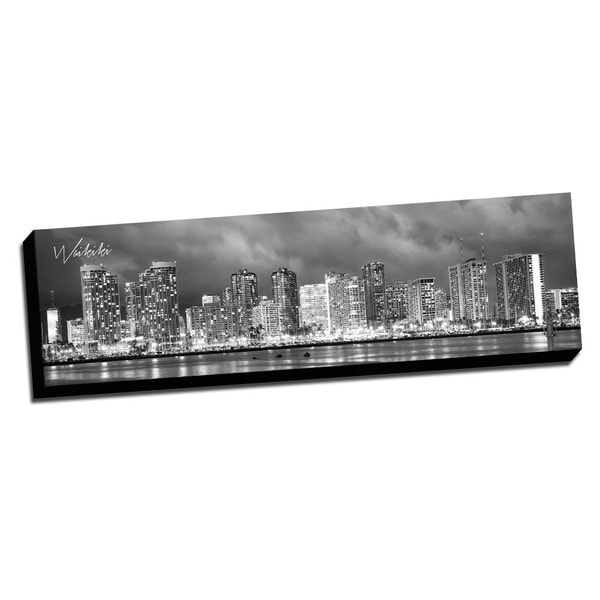 Waikiki Wrapped Framed Canvas