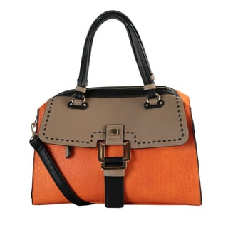 Diophy Combination Zipper Closure Doctor-style Handbag