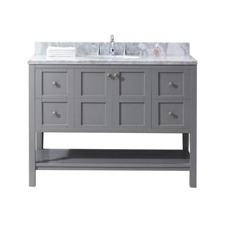 Virtu USA Winterfell 48-inch Single Bathroom Vanity Set in Grey
