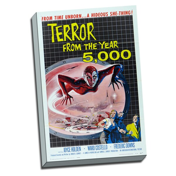 Terror 5000 Vintage Movie Poster Printed and Wrapped On Canvas