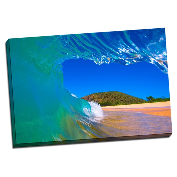 Tropical Places Collection Green Wave Wall Decor