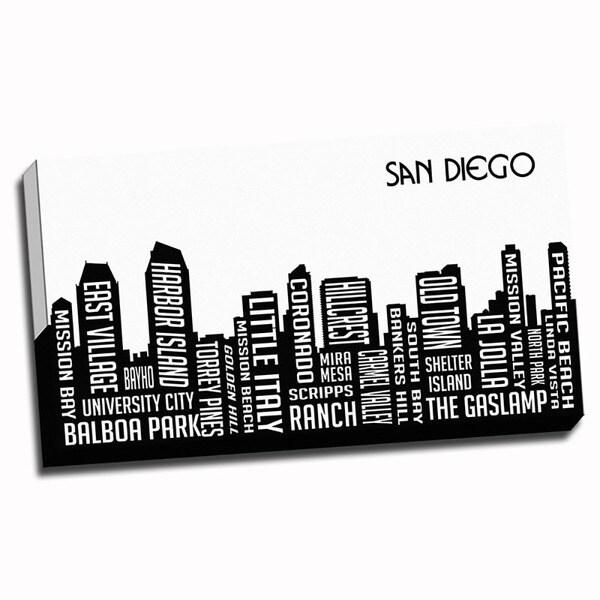 San Diego Wrapped Framed Canvas