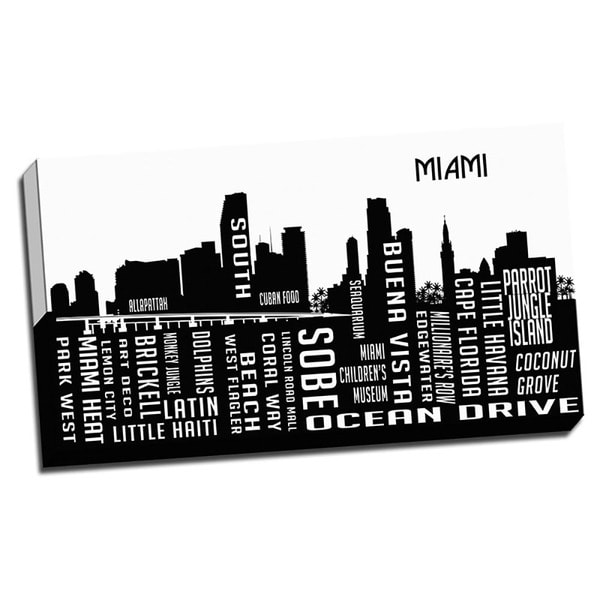 Miami Wrapped Framed Canvas