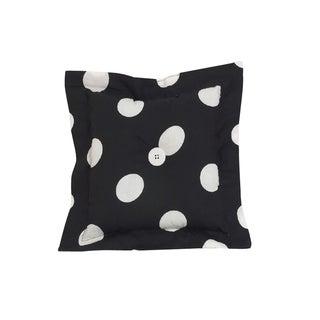 Cotton Tale Big Black Dot Throw Pillow
