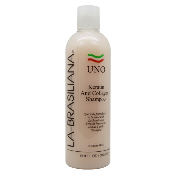 La-Brasiliana UNO Keratin and Collagen 16.9-ounce Shampoo