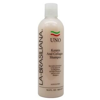 La-Brasiliana UNO Keratin and Collagen 16.9-ounce Shampoo