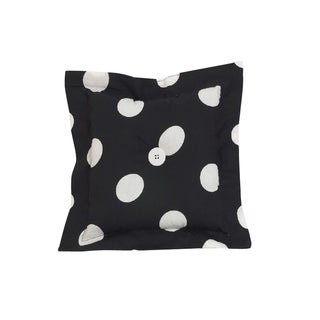 Poppy Black Dot Throw Pillow