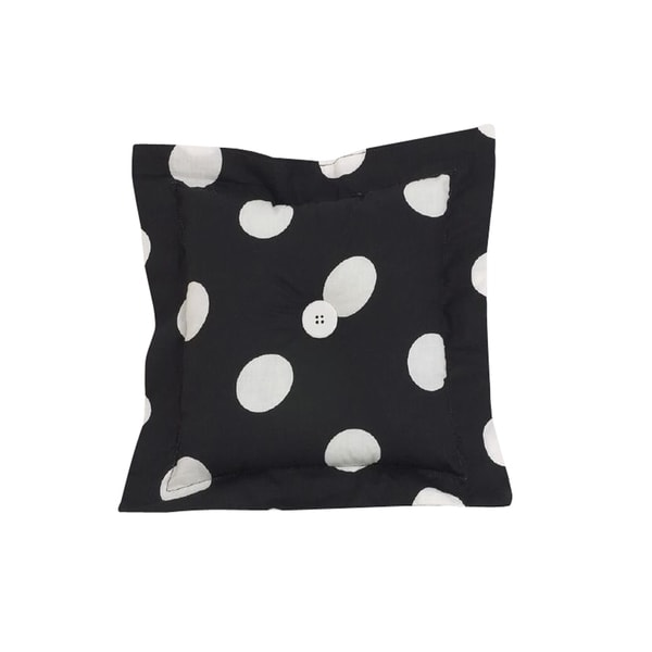 Poppy Black Dot Throw Pillow