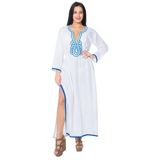 La Leela Swimwear SOFT Rayon Bikini Cover up Beach Swimsuit Women Dress White