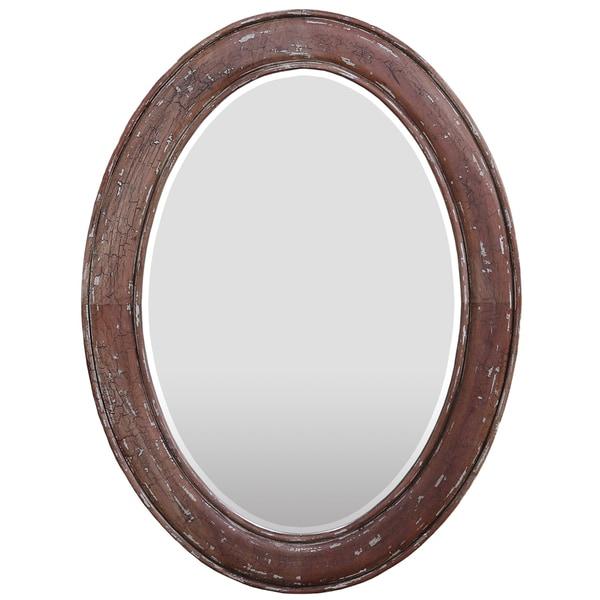 Bramble Co. Dawes Smackle Crackle Oval Mirror