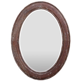 Bramble Co. Dawes Smackle Crackle Oval Mirror