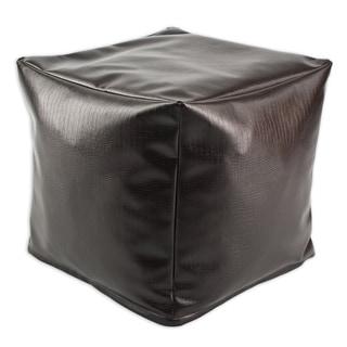 Tinga Moreno Faux Leather 12.5-inch Square Footstool