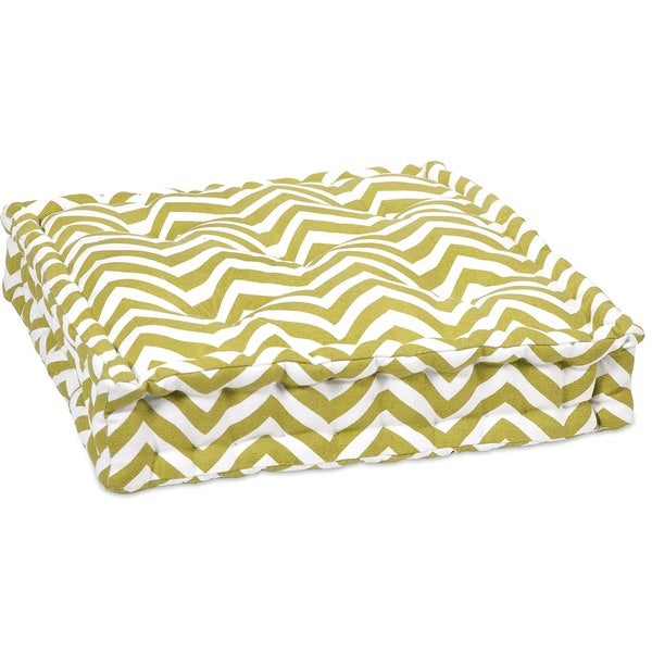 Green Chevron Cushion