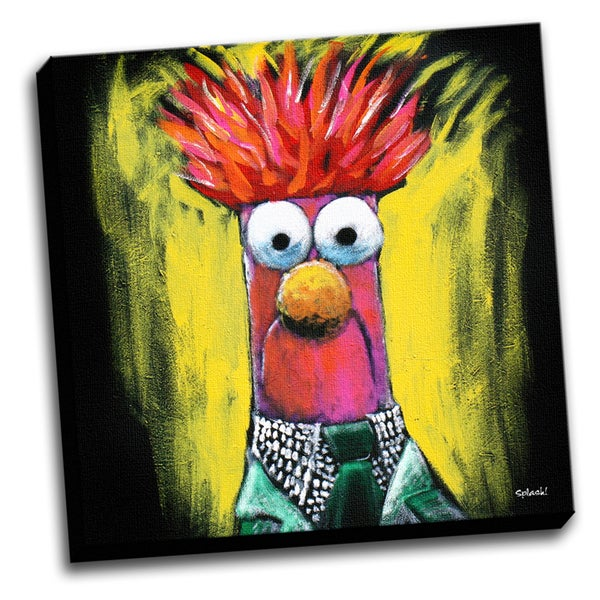 Beaker Muppet Colorful Art Printed Canvas Stretched Framed Ready To Hang