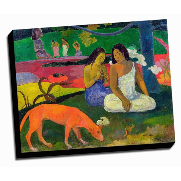 The Red Dog Fine Art Masterpiece Printed Canvas