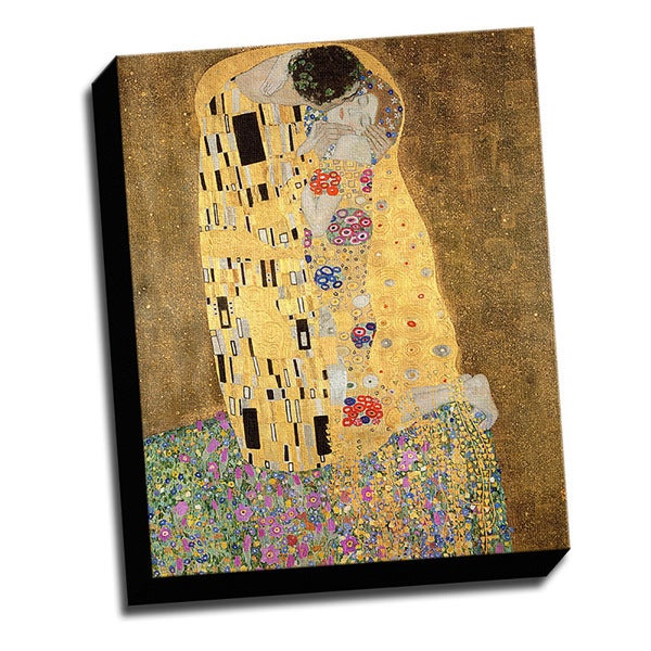 The Kiss Fine Art Masterpiece Printed Canvas
