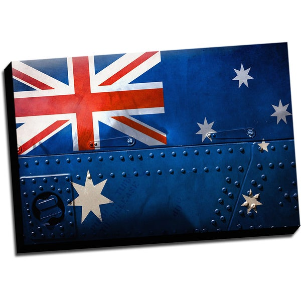 Australia Distressed Flag Stretched Canvas Wall Art