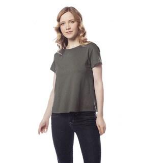 AtoZ Women's Modal/Turkish Cotton Short-sleeve Crew-neck T-shirt