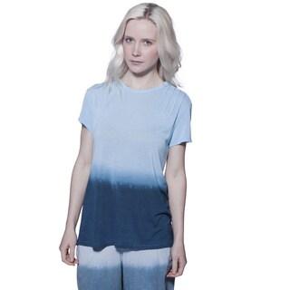 A to Z Women's Ombre Pintuck Multicolor Cotton T-shirt