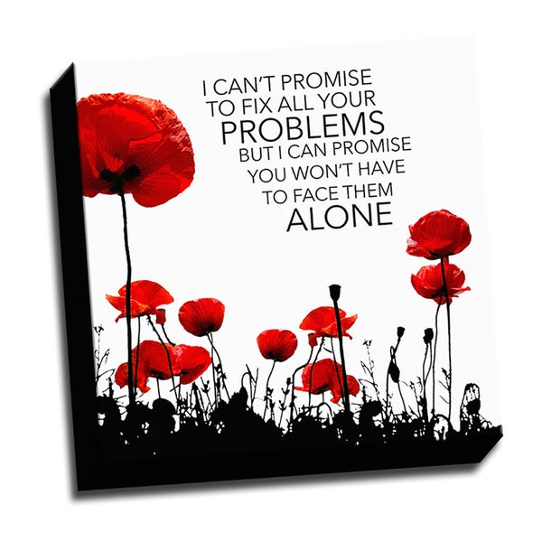 All About Love Problems Quote Textual Art On Wrapped Canvas