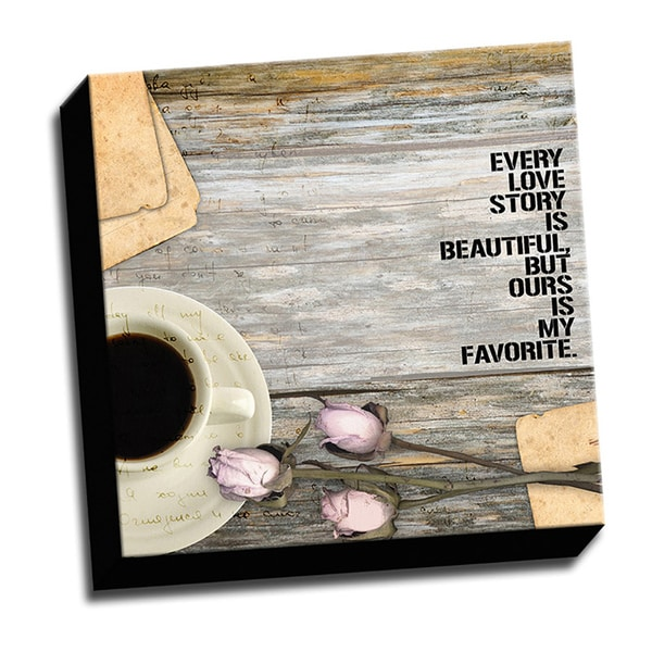 All About Love Love Story Romantic Quote Textual Art On Wrapped Canvas