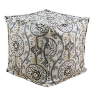 Oh Suzani Multicolored Cotton 12.5-inch Square Ottoman