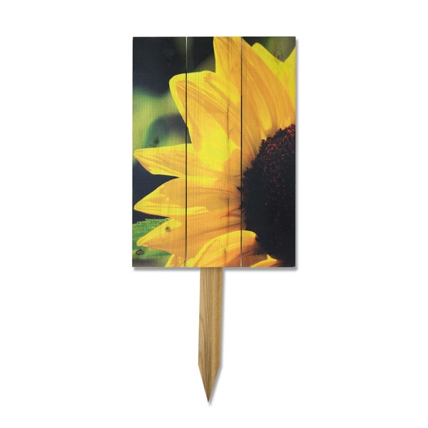 Wile E Yellow Sunflower Yard Marker
