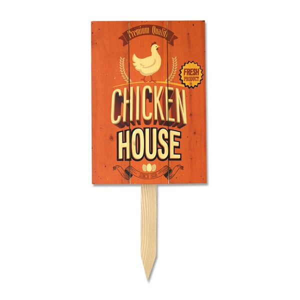 Wile E Chicken House Yard Marker