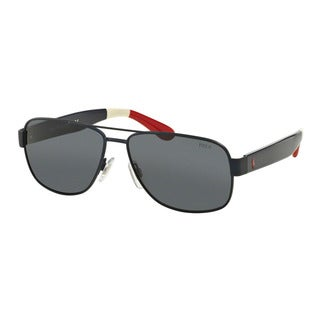 Polo Ralph Lauren Men's PH3097 930587 Blue Metal Pilot Sunglasses