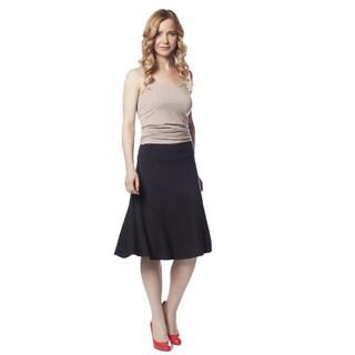 AtoZ Women's Modal A-line Skirt