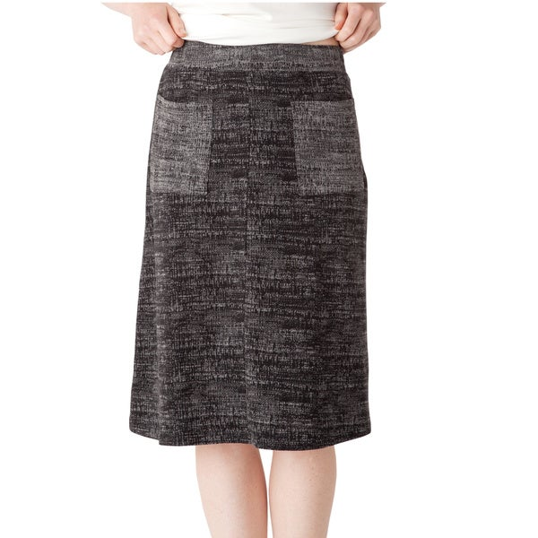 AtoZ Women's Knit Reversible Skirt