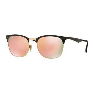 Ray-Ban Men's RB3538 187/2Y Black Metal Square Sunglasses