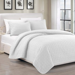 EverRouge Madrid 100-percent Cotton Pre-Washed 3-piece Bedspread Set