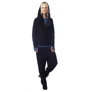 A to Z Women's Brushed Viscose Asymmetrical Hoodie
