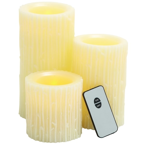 Multi-color Wax LED Remote Candles (Set of 3)