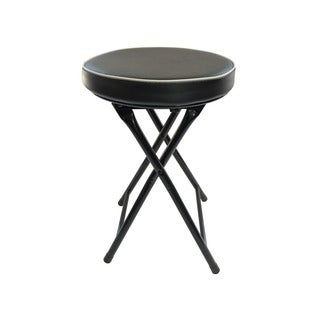 Wee's Beyond Black Cushioned Folding Stool