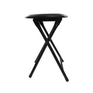 Trademark Home 24 Inch Cushioned Folding Stool Set Of 2