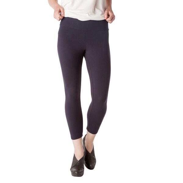 AtoZ Women's Modal/Turkish Cotton Cropped Leggings