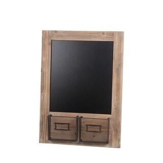 Privilege Black/Brown Wood Chalkboard Wall Panel