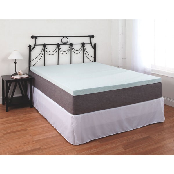 Gel-infused Memory Foam Mattress Topper 2.5-inch Dense Pad with Pressure Point Relief Open Cell Structure