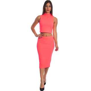 Special One Women's 2-piece Bodycon Crop Top and Miniskirt Outfit