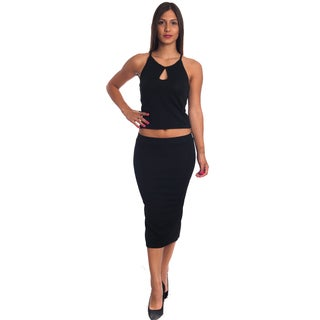 Special One Women's 2-piece Bodycon Crop Top and Mini Skirt Outfit
