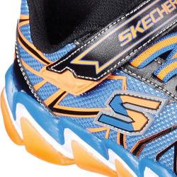 Boys' Skechers Skech-Air 3.0 Rupture Sneaker Black/Blue/Orange