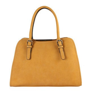 Diophy Women's Synthetic Leather Dual Compartment Double Zipper Closure Tote/Handbag