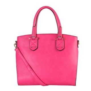 Rimen & Co. Women's Multicolor Synthetic Leather Top-zipper Closure Tote Handbag