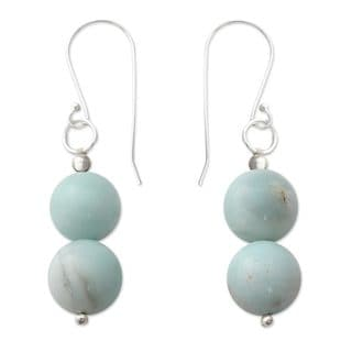 Handcrafted Sterling Silver 'Compassion' Amazonite Earrings (India)