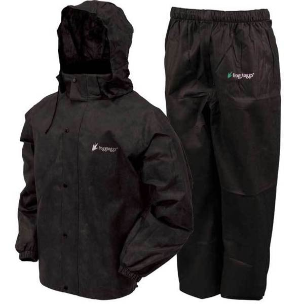 Froggs Toggs Black Waterproof All-sport Rain Suit 19188264