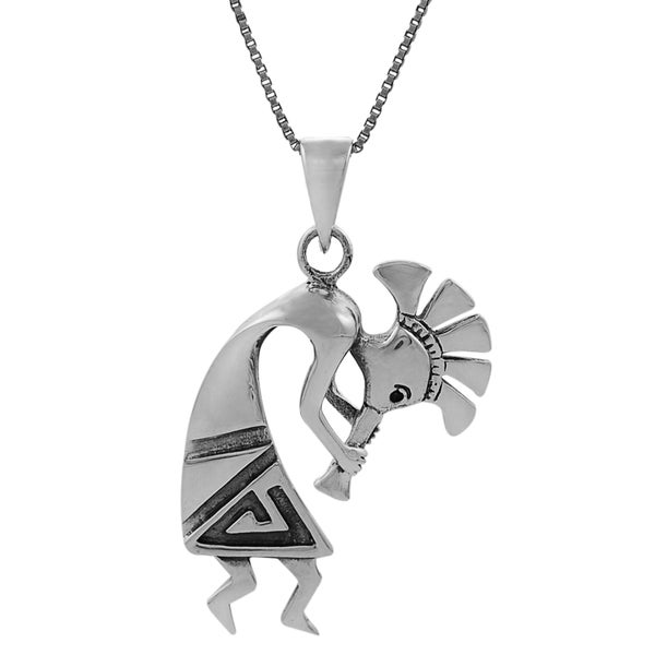 Journee Collection Sterling Silver Womens Kokopelli Pendant