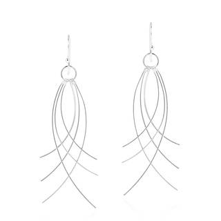 Chic Cluster Mobile Sticks Sterling Silver Dangle Earrings (Thailand)